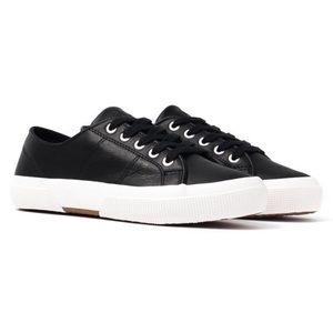 NWOT Ralph Lauren Black Leather Jolie Sneakers